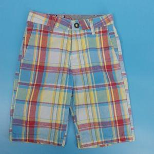 Volcom Boy's 10 Reg Vibrant Plaid Shorts